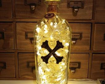 Bumbu Rum Warm White LED Upcycled Bottle Lamp Light by JayEngrave
