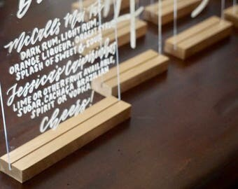 Wooden stands for acrylic | customizable colors | wedding sign stands
