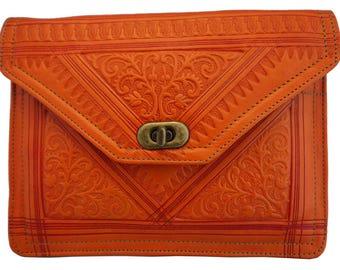 Handmade Leather clutch bag/purse/shouder bag