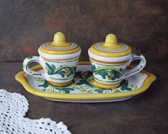 Vintage Coffee Serving set Vintage ceramic set Set for coffee Espresso Serving set Set for two Vintage Ceramic set Handmade ceramic
