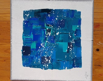 small abstract art painting contemporary unique
