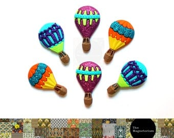Hot Air Balloon Fridge Magnet Set