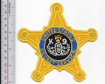 K-9 EOD US Secret Service USSS Explosive Ordnance Detection Gold Star Badge Patch