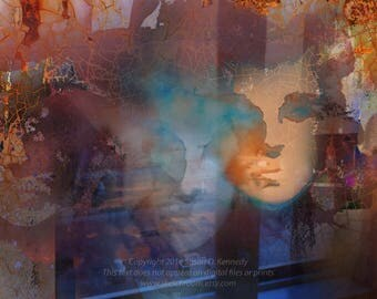 "Digital Collage ""Jameson South"" Mental Illness painting Digital Printable Art Photographic Collage"