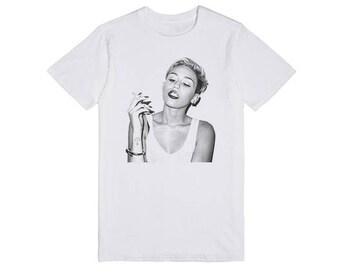 Miley Cyrus T- Shirt ( Unisex For You )Size xs,s,m,l,xl,xxl