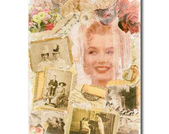 Marilyn Monroe, instant download, vintage, digital file, mixed media, photography