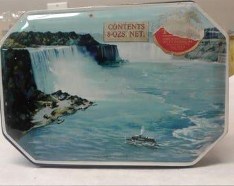 Riley's Toffee Tin, Niagra Falls Picture, Small decorative tin