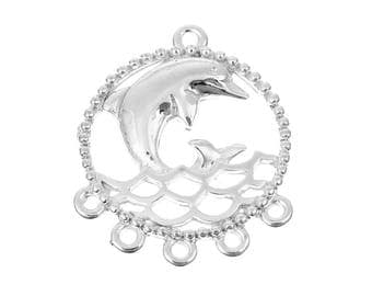 Dolphin Chandelier Earring Connector Findings - Package of 10
