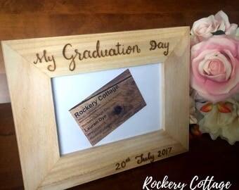 Personalised photo frame, custom photo frame, wooden photo frame, picture frame, wood burned frame, birthday gift, decorative frame custom