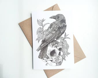 The Raven || A6 Greetings Card