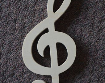 Music Notes, Treble Clef, Musical Theme, Wall Art Musical Notes, Party Decor, Musical Gift