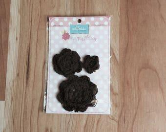 Riley Blake Crocheted Flowers Package of 3