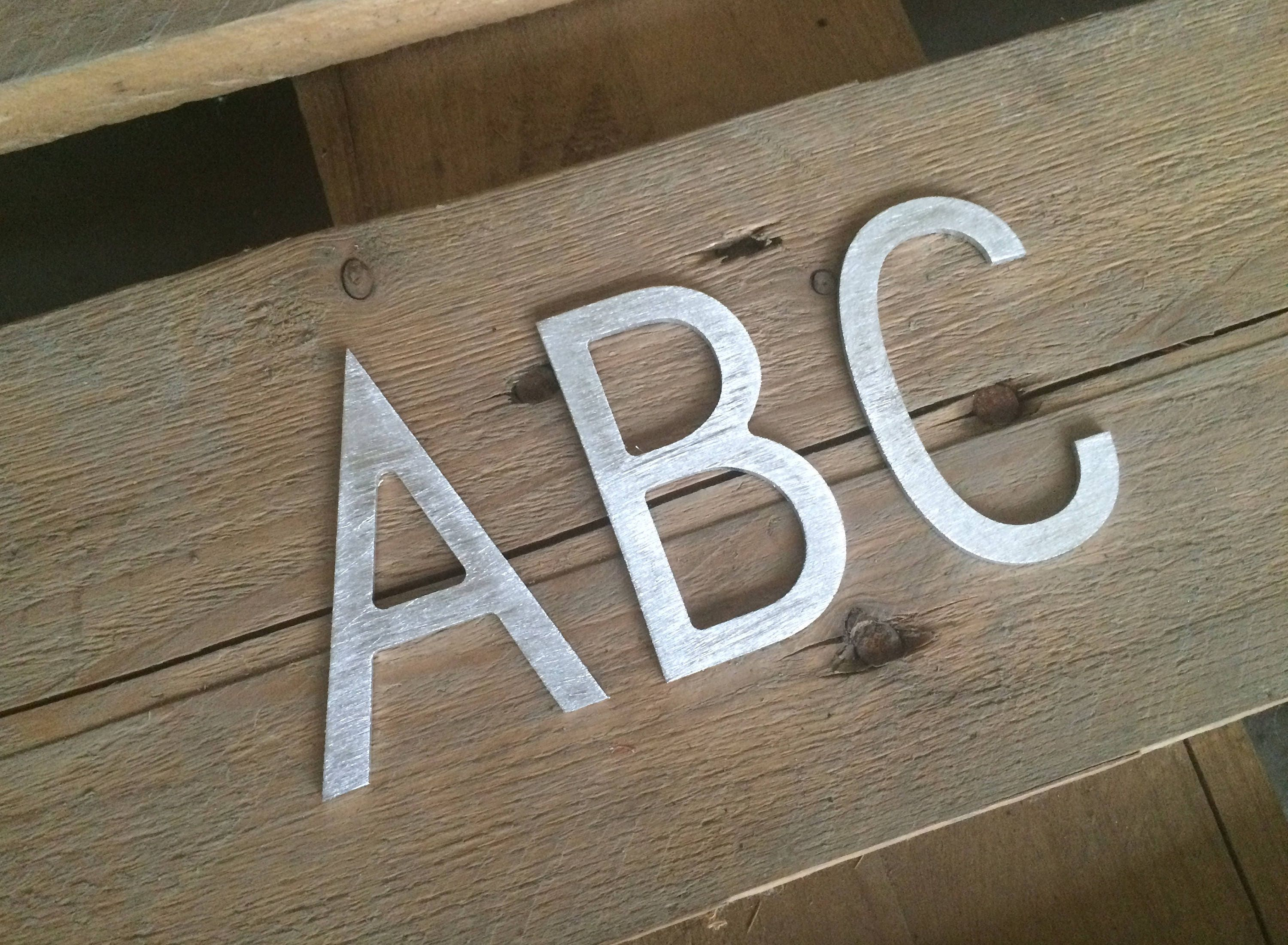 Small metal letters metal letter Metal sign Metal