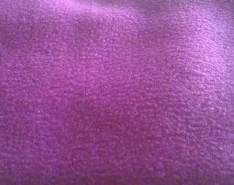 Color Purple fleece fabric