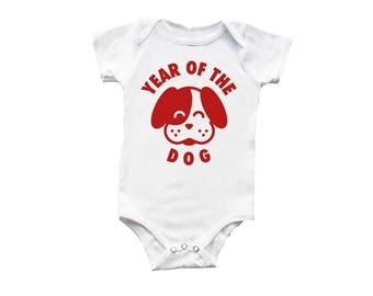 Year of the Dog Baby + Kids Shirts + Bodysuit, Chinese New Year shirt,  Lunar New Year shirt, Chinese Asian Baby Gift, Unique Baby gift