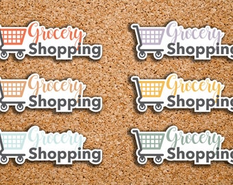 28 Grocery Shopping, Shopping Cart, Daily Chores Icon Stickers for 2017 inkWELL Press Planners IWP-DC115