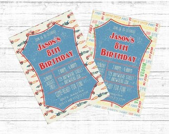Racing Birthday Invite - Fast Cars or Fast Words!