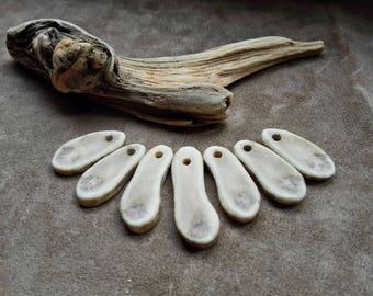 Natural caribou antler slices for jewelrymaking Natural Antler charm set Antler slice pendants