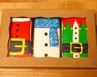 Christmas sugar cookie gift box