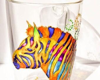 Zebra Mug, Latte Mug, Zebra, Large mug Animal print Zebra, African animal mug