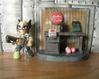 Fallout 3  Mini Capital Wasteland Desk Model  Sugar Bombs Cherry Bombs Nuka Cola Cap