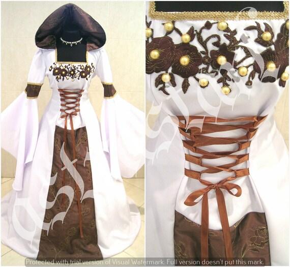 Mittelalterliche Hochzeit Kleid S-M 12.10.14 braun Mittelalter