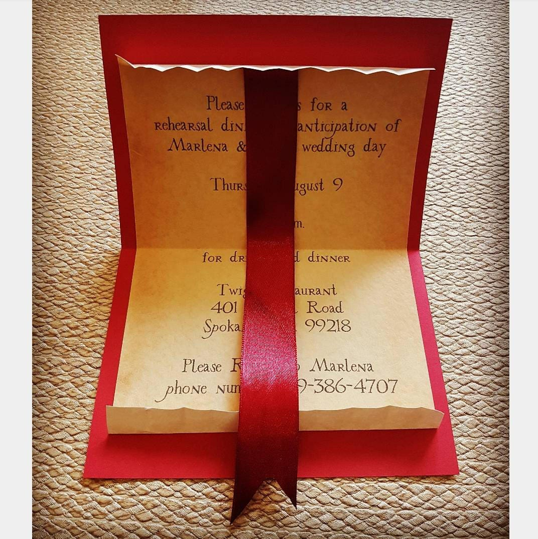 Harry Potter Inspired Howler Invitation - Wedding, Save the Date ...