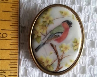 sale Lovely Vintage Bird Cameo Brooch