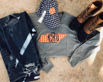 Tennessee Gingham Applique Tee