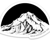 "Mount Hood- pacific north west oregon- 3"" x 2.15"" -  Weatherproof and durable, Outdoor, Travel sticker, Wanderlust, Mountain and adventure-"