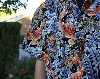 Koi and Waves Aloha Shirt