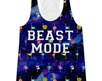 Pole Dance Racerback All Over Tank Top || Team Beast Mode