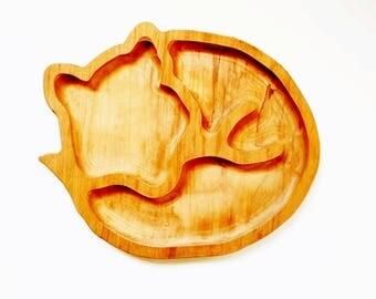 Fox breakfast board - frühstücksbrett - German sandwich board - toddler snack board - wooden breakfast board - Waldorf - bread board