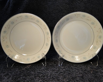 "TWO Fine China of Japan English Garden Soup Bowls 7 1/2"" 1221 (Set of 2) EXCELLENT!"