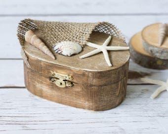 Alternative Nautical Ring Box Beach Wedding Ring Holder Seaside Wedding Ring Bearer Holder Starfish Ring Pillow