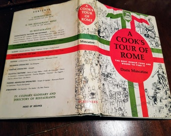 A Cook's Tour of Rome by Doris Muscatine Mid-Century Modern Cookbook from 1964