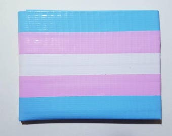 Trans Pride Flag Duct Tape Wallet