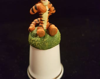Vintage Disney tigger winnie the pooh thimble made in england sterling classics