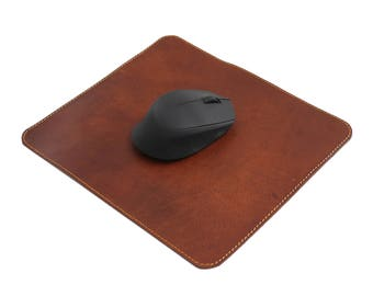 Leather Mouse Pad Real Leather Mouse Mat Leather Mouse Pad JoyToken® - Brown