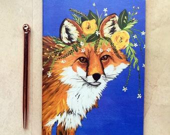 Flower power creatures A5 notebook