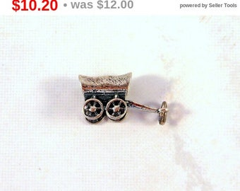 Eclipse Sale Sterling Silver Charm Covered Wagon Conestoga Wagon Oregon Trail Old West