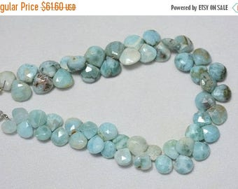 ON SALE 50% Larimar Cut Heart Beads, Larimar Faceted Heart Shape Briolettes Gemstone For Jewelry, 9mm Approx, 4 Inches Strand