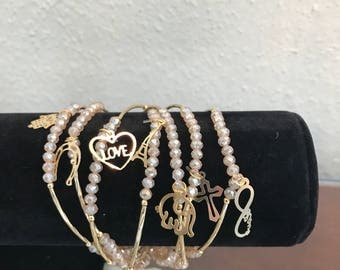 Set of beautiful bracelets
