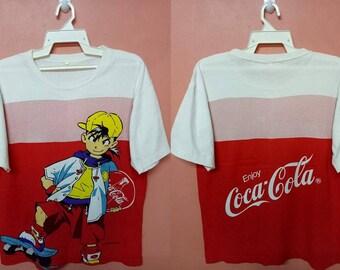 COKE Coca Cola fullprint allover rare anime cartoon skate design t-shirt