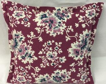 Duralee  Violet floral Design Pillow Cover, Eurosham or Lumbar Pillow Accent Pillow, Throw Pillow