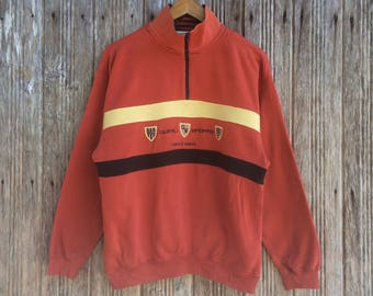 Rare!! Quimili Sports Half zipper Sweatshirt Nice Design Colourblock Style Medium size