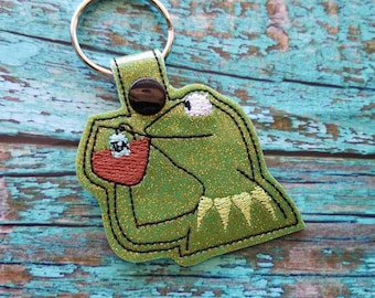None of my Business Frog Keychain