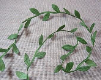 4 meters, leaf, leaf green, leaf, Ribbon, Ribbon 25mm, Green Ribbon, for scrapbooking, card, fabric leaf headband
