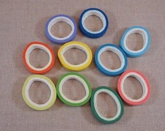 Ruban masking tape, papier Washi, rouleau de 5 mètres, ruban de 8mm, lot de 10 rouleaux multicolore, ruban adhesif scrapbooking