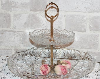 Glass Tiered Stand Etsy